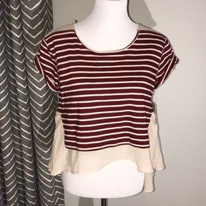 Free people stripe top with sheer back
